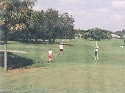 The golf course behind Royal Palms Condos in Titusville, Florida